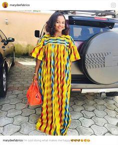 Long dress African Fashion Ankara, Latest African Fashion Dresses, African Print Fashion, Africa Fashion, African Dresses For Women, African Print Dresses, African Attire, African Wear, Trendy Ankara Styles