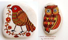 For those who didnt see my curiosity test some days ago :) Are you an EARLY BIRD or a NIGHT OWL as I am ;) ?? #bird #owl #paintedstones https://www.facebook.com/ISassiDelladriatico