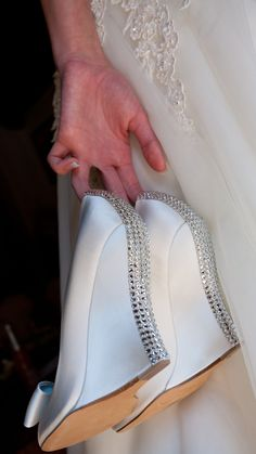 Spring bridal shoes for the outdoor wedding...I bet the bridesmaids might appreciate wedges...hm.
