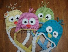 Bird or Chick Hat Pattern Crochet Pattern von Simply2Irresistible