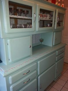 Antique sideboard or cabinet for the kitchen.