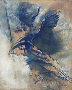 Odilon Redon - The angel of the sword