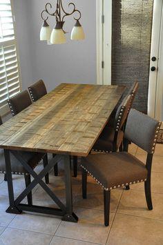 the SPANN Dining Table Reclaimed Wood Dining por hautehabitats