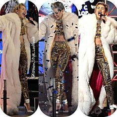 MILEY CYRUS PERFORMANCE NEW YEARS EVE #mileycyrus #performance #newyear #eve #newyeareve #with #ryanseacrest #hot #twerk #liamhemsworth #boyfriend #ex #fur #beauty #pink #hollywood #goodbye #2014 #croptop #fashion #styleicon #lookbook... - Celebrity Fashion