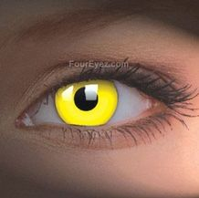 Yellow UV Contact Lenses (Pair)