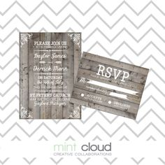 Year End Sale DIY Printable Wedding Invitation 6 by MintCloudLLC