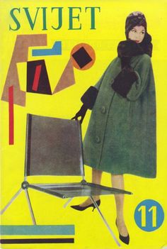 Naslovnica časopisa Svijet, 1960. Dizajn: Aleksandar Srnec.