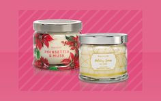 Partylite, Poinsettia, Decoration, Jars, Holiday, Scented Candles, Diffuser, Candles, Decorating