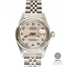 Rolex Date Ladies Stainless Steel Automatic Watch