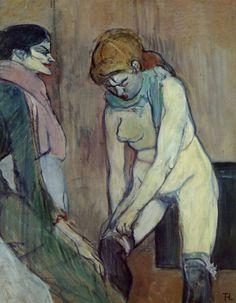 Woman Pulling up her Stocking, Henri de Toulouse-Lautrec 1864 - 1901