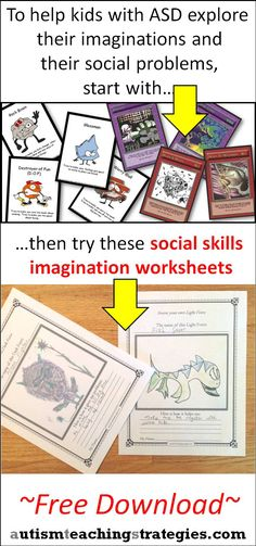 Here are a bunch of free worksheets. Kids draw Unthinkables or Ryuu characters, or they invent their own. This helps them identify social skills problems and begin to work on solutions.