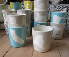 State Cups. $14.00, via Etsy