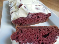 Weigth watcher recipes, Red velvet banana bread with cream cheese icing by drizzle me skinny