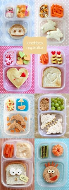 Some of these other lunch ideas are not doable but this is cute. And includes MANY of the things Z enjoys.