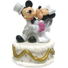 minnie kissing mickey cake topper - Disney