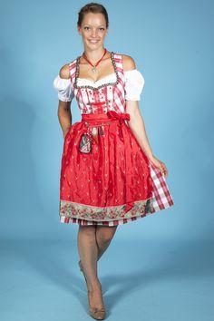 Mini Dirndl Claudia red