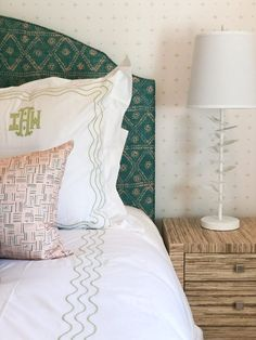 Headboards That Turn Heads - Custom bed + bedding ideas + inspiration - Isabella Custom Headboard, Custom Pillows, Upholstered Bed Frame, Fabric Bins, Rest And Relaxation, Custom Window Treatments, Cozy Bed, Bedroom Styles, Colorful Interiors