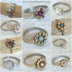 Jeweled Corsage Bracelets