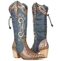 Bota Texana Country Feminina Com Bordados ⋆ Capelli Boots
