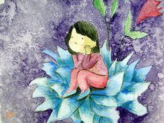 Pensando na vida e em voc Thinkin about life and you Tcnica Thechinic AquarelaWatercolor