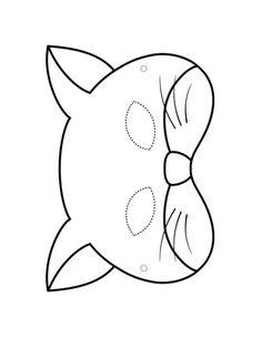 Maski do drukowania i wycinania: Koty. Szablon maski kota z papieru Art Activities For Kids, Preschool Art, Crafts For Kids, Animal Masks For Kids, Mask For Kids, Ancient Egypt Crafts, Printable Halloween Masks, Mask Drawing, Baby Bibs Patterns