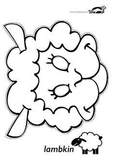 children activities, more than 2000 coloring pages Animal Masks For Kids, Mask For Kids, Vbs Crafts, Bible Crafts, Felt Patterns, Applique Patterns, Sheep Mask, Carnival Crafts, Tableaux Vivants