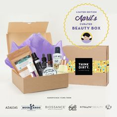 We are partnering with rated clean 0-3 beauty brand sponsors1who support our mission to bring the most requested beauty box to you. Each box comes with 8 hand-picked, rated clean beauty products, a full she-bang of Think Dirty swag goodies and lots of love. Valued at over $USD 200+, specially offered to you for $USD 95!    The Think Dirty Clean Beauty box is the perfect gift for health-conscious significant others, hard-core yogi friends, or kale-loving besties. Or better yet, show yourself…