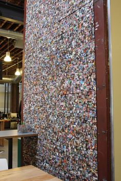 This wall featuring photos of pinners from around the world. 43 Ways Pinterest's Office Is The DIY Paradise You'd Expect