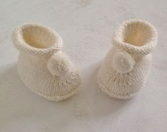 a maglia, scarpine Babbucce di lana di /baby babbucce neonato /merino/taglia 0-12 mesi
