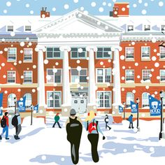 Hood College winter scene by Ellen Byrne Hood College, College Campus, Frederick Maryland, Hood Girls, Winter Scenes, Travel Posters, Awesome Stuff, Baltimore, Quad