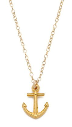 Gorjana Anchor Necklace - Gold