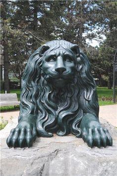 Поговорим?) - Лев цвеЛ Французский лев 1831 года рождения (отлит в городе Лион) у входа в розарий монреальского ботанического сада