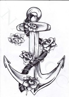 This anchor with maybe forget me nots with Uncle Julian's year of birth and year of death