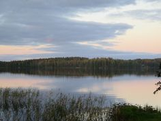 Evening on lake in Finland by evasojahannele