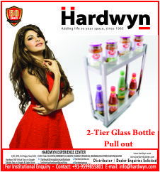 #2-Tier #Glass #Bottle #Pull #Out