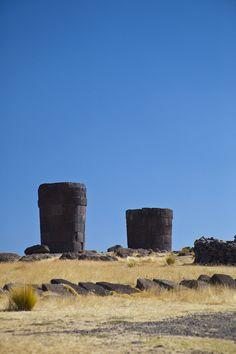 Sillustani burial towers #Peru  Lake Titicaca altiplano region.