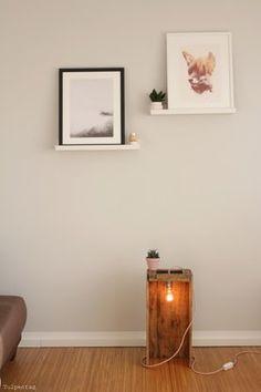 DIY Lampe - Foto von Tulpentag #solebich #interior #pictures #DIYlamp #woodlamp #woodenlamp #lamp #einrichtung #inneneinrichtung #DIYLampe #Lampe