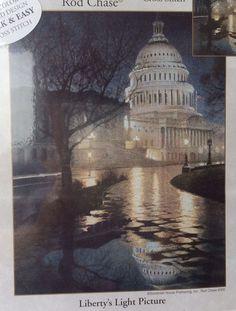 Liberty's Light Picture Cross Stitch Kit Candamar Designs Rod Chase 51426 NIP…