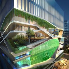 """Seoul-based Unsangdong Architects created the winning proposal for a Cultural and Arts Center in SeongDong-gu, """"Culture Forest"""", which features sustainable architecture, lots of trees and vegetation as well as solar power. Cultural Architecture, Classical Architecture, Sustainable Architecture, Art And Architecture, Pavilion Architecture, Ancient Architecture, Residential Architecture, Urban Park, Modern Metropolis"""