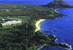 Located on Maluaka Beach, which is considered one of Maui's finest beaches, it is a very popular wedding site.