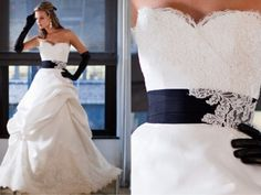 Nautical Themed Wedding Gown