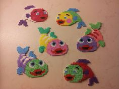 Fishes hama perler beads by Pernille Henriksen