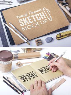 PSD gratuito para mostrar tus diseños en una agenda