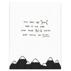 Kids Wall Decor with Mountain Quote for Kids | Homely Creatures