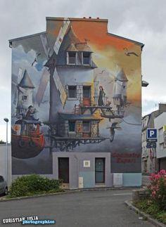 Street art by Pakone in Brest - France