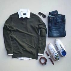 Essentials by silverfox_collective Mens Smart Outfits, Cool Outfits, Casual Outfits, Fashion Outfits, Fashion Trends, Fashion Sale, Paris Fashion, Fashion Fashion, Runway Fashion