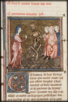 Job on the dung-hill is tormented by his wife and comforted by his friends  - Click photo for more images - National Library of the Netherlands