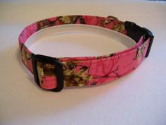 Handmade Cotton Dog Collar Hot Pink Real Tree Camo Camoflauge by WalkingTheDog on Etsy