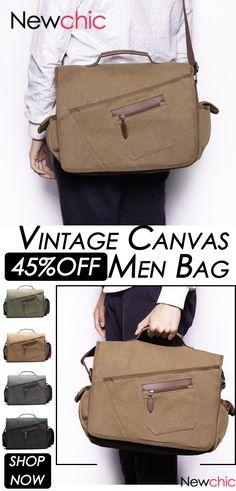 ed5f257b5c10 Ekphero Ekphero Vintage Canvas Large Capacity Casual Multi-pocket Crossbody Bag  For Men is hot-sale