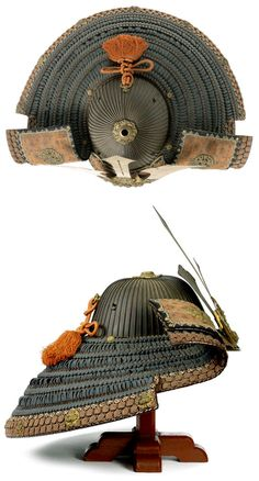 - Late Edo Gusoku and sixty-two-plate iron suji bachi kabuto. Late Edo Period, 19th century ./tcc/